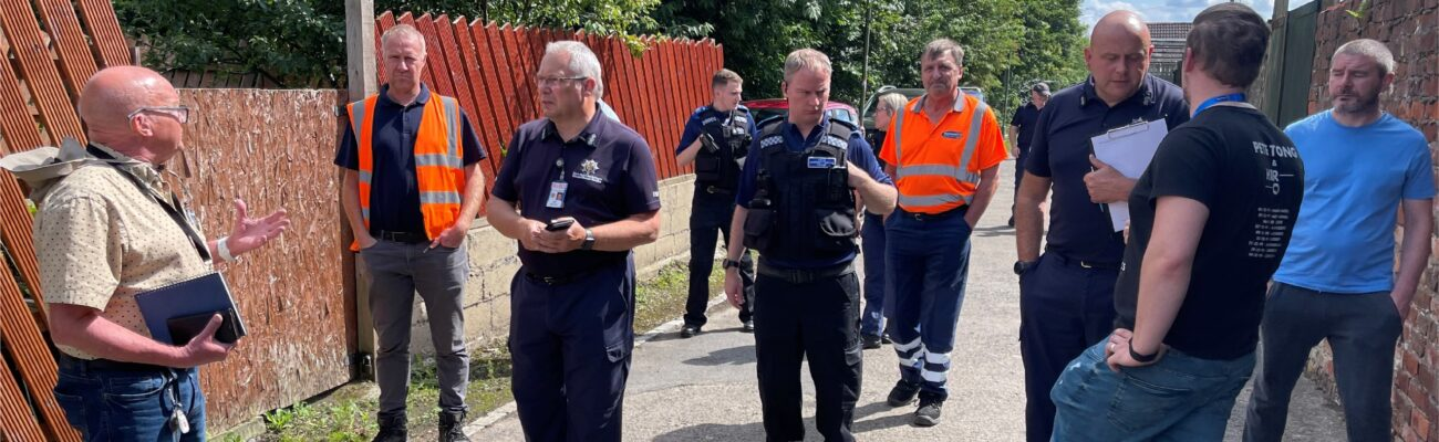 County Durham Police and volunteers on a walkabout